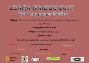 NAIDOC Opening Day Flyer 2017