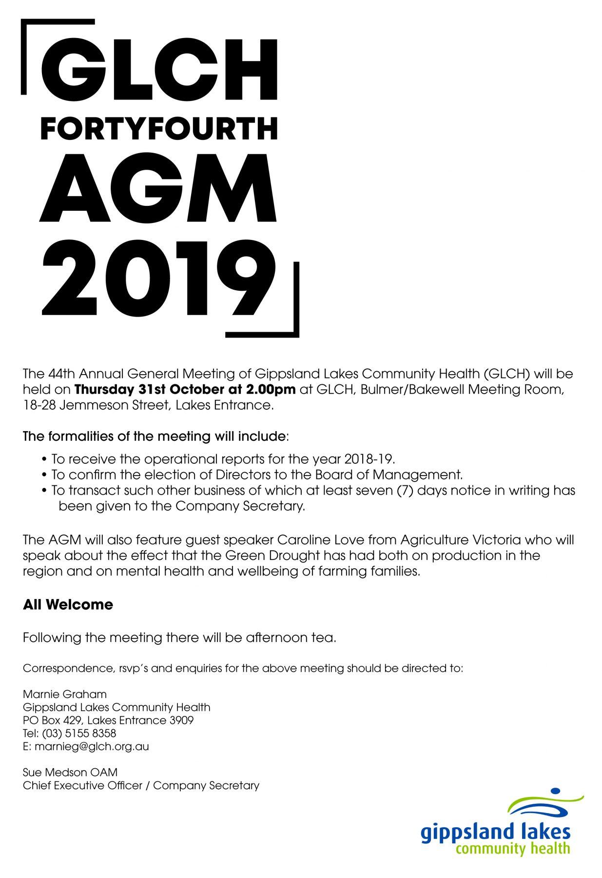 AGM Flyer 2019